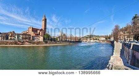 Santa Anastasia And Ponte Pietra