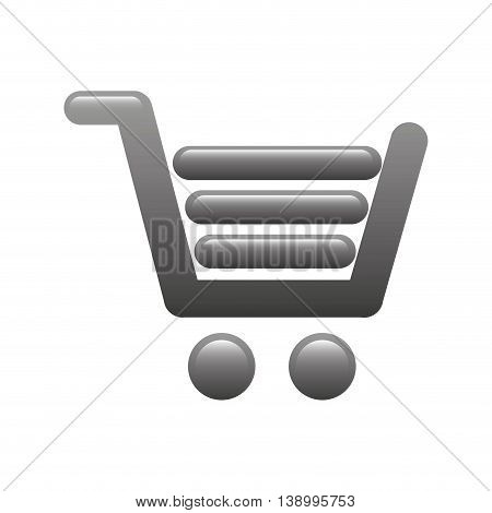 shopping cart icon, commercial market,  isolated vector illustration