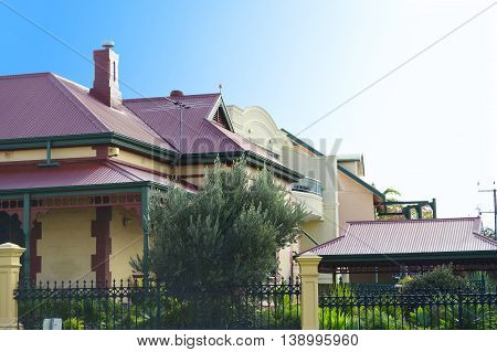 Row Of Victorian Style Homes