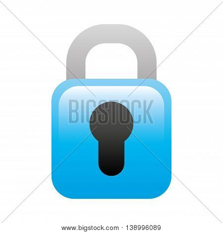 padlock icon, security lock and protection,  isolated vector illustration