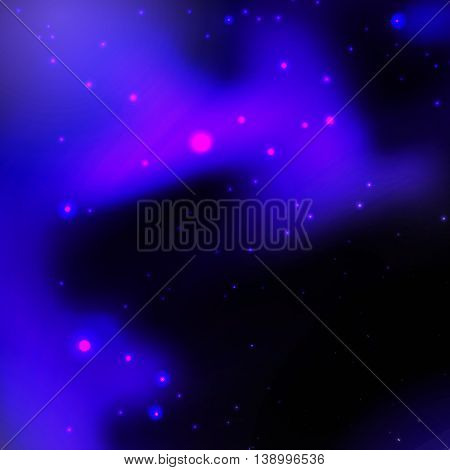 abstract space wave stars galaxy purple background vector