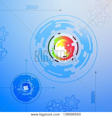 futuristic technology visualisation functional  abstract ui vector