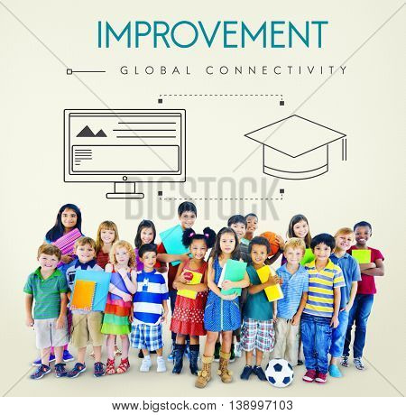 Improvement Global Connectivity Education Graphic Concept