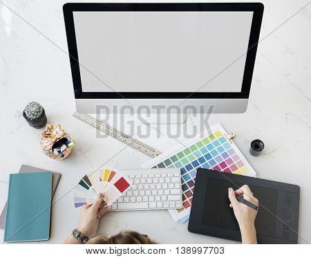 Designer Interior Working Workspace Concept