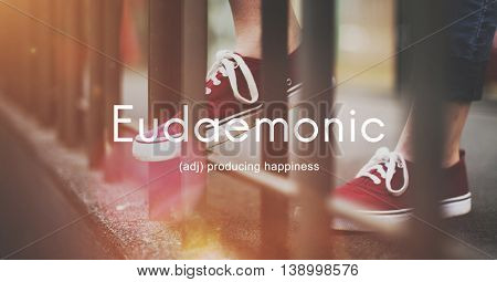 Eudaemonic Happiness Enjoyment Cheerful Carefree Concept