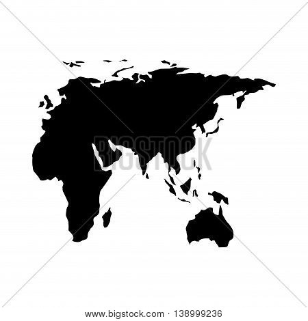 European continent silhouette,  isolated vector illustration illustration eps10
