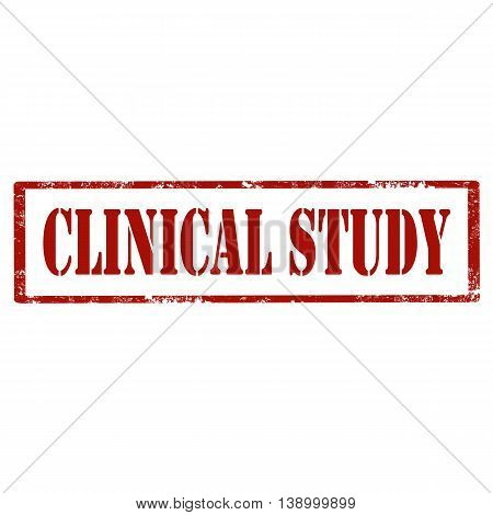 Grunge rubber stamp with text Clinical Study,vector illustration