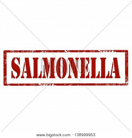 Grunge rubber stamp with text Salmonella,vector illustration