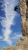 stock photo of mountain-climber  - Rock Climbing - JPG