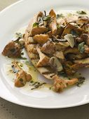 Wild Mushrooms Sauteed in Garlic Butter with Char grilled Baguette and Black Truffle