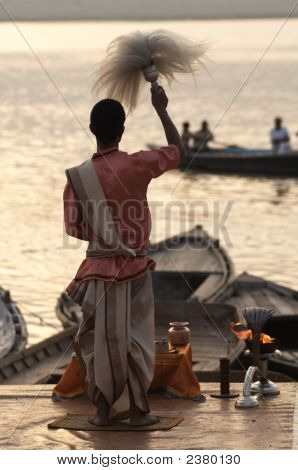 Priest At Varanasi