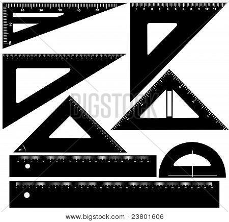 Technical drawing equipment illustration