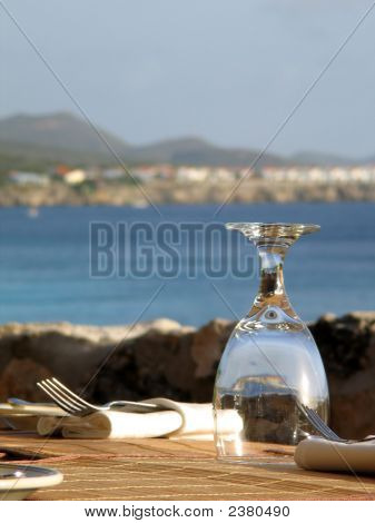 Glass At Restaurant