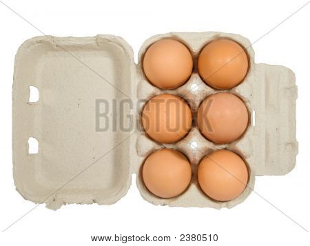 Half Dozen Fresh Eggs In Box