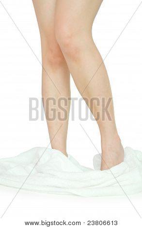 shy girl leg