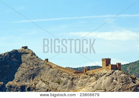 Genoese Fortress Just After The Dawn. Crimea. Sudak