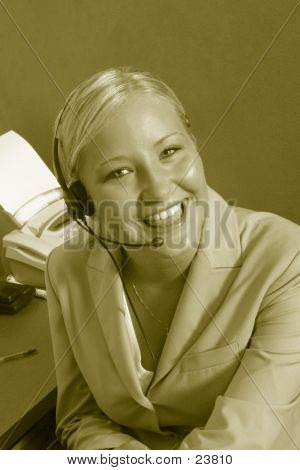 Sepia Business Woman