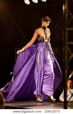 Prague-september 24: A Model Walks The Runway During The 2011 Autumn/winter Nina Ricci Paris Collect
