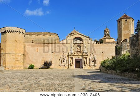 A view of Monastery of Santa Maria de Poblet, Spain