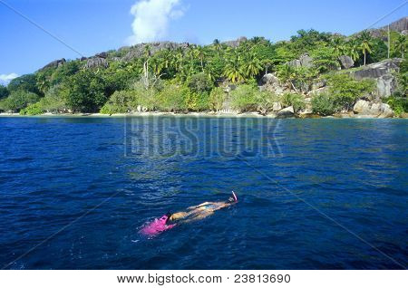 snorkeling, Felicite, Seychelles