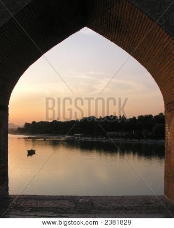 Sunset On Zayandeh Rud (River), Isfahan