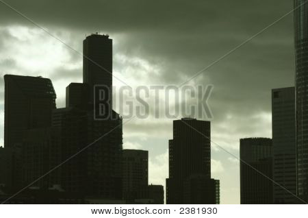 City Skyline And Clouds