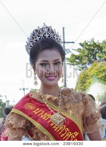 Beauty Queen Woman With Thai Dress
