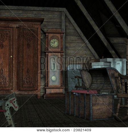 Background Dark room