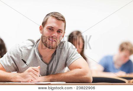 Smiling Student Sitting