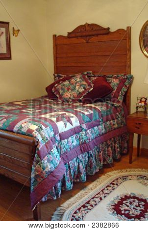 Antique High Headboard Bed