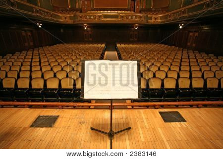 Music Stand And Chairs In A Theaterauditorium Or Opera