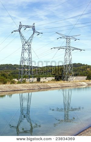 Power Lines Above Water
