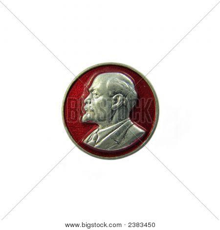 Badge With Profile Of Vladimir Lenin