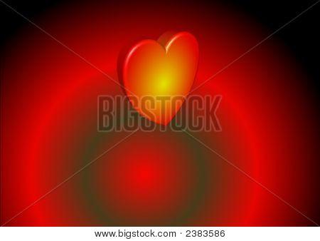 3D Heart In Orbit
