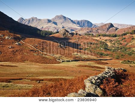 Langdale Pikes And Countryside