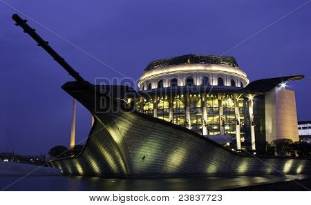 Hungarian National Theatre at Blue Hour