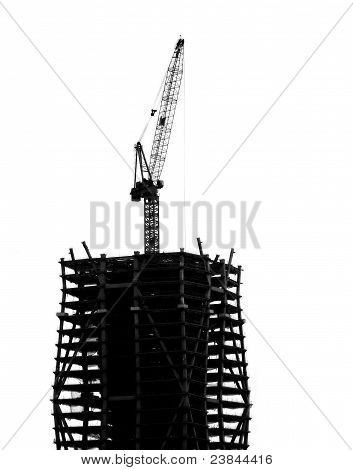 High Rise Construction With Crane