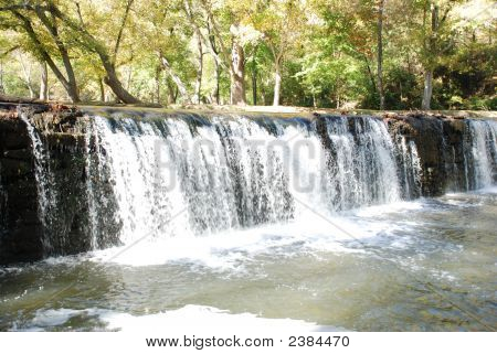 Waterfall Into River