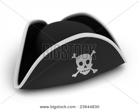 3D Illustration of a Pirate's Hat