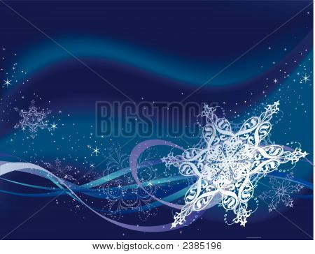 Ornate Snowflake Background.Eps