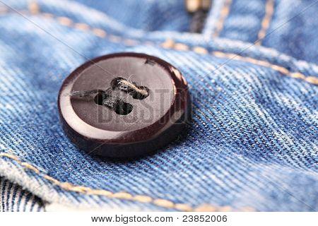 jeans button closeup