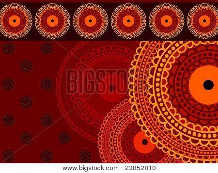 Henna Mandala Background