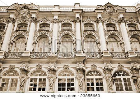 Catherine Palace. Tsarskoe Selo. Sepia.