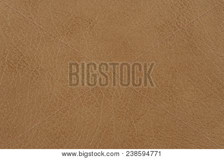 poster of Light Brown Leather Texture Surface. Close-up Of Natural Grain Cow Leather Light Brown Leather Textu