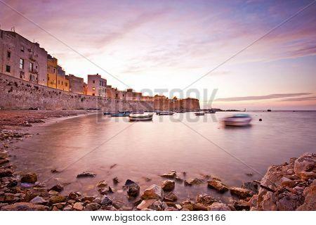 Calm Sunset In Trapani Bay