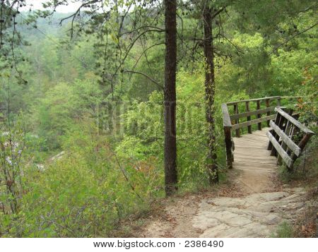 Footbridge In The Mountains