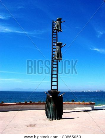 Metal Sculpture on El Malecon in Puerto Vallarta