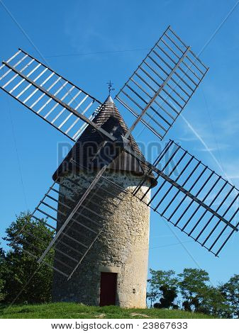 Traditional Windmill  in the South West of France