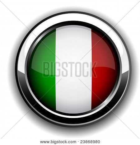 Vector illustration of national italian flag icon.