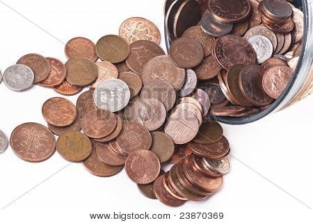 British pences. Coins